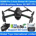 ZLRC Beast SG906 Pro бесщеточный двигатель GPS 5G Wi-Fi FPV 2-осевой карданный Профессиональный 4K HD камера RC Дрон Квадрокоптер поддержка SD карты