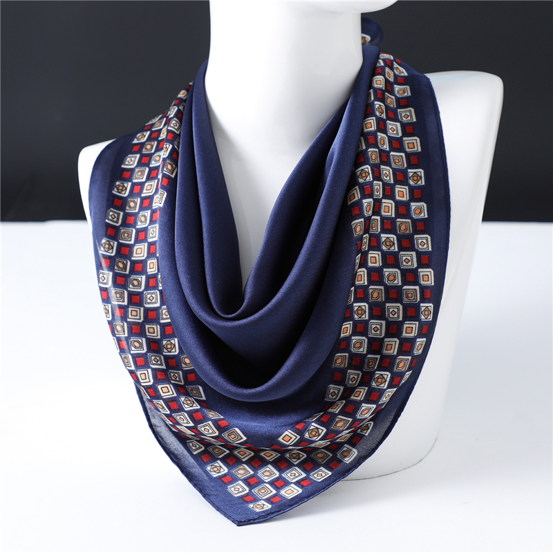 Simple Solid Color Silk Scarf Women's Small Square Scarf Professional Work Scarf Spring And Summer Thin Small Scarves 2020 New
