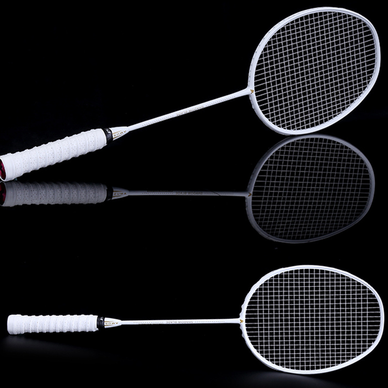 NEW Graphite Single Badminton Racquet Professional Carbon Fiber Badminton Racket With Carrying Bag