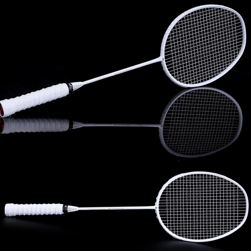 NEW Graphite Single Badminton Racquet Professional Carbon Fiber Badminton Racket With Carrying Bag