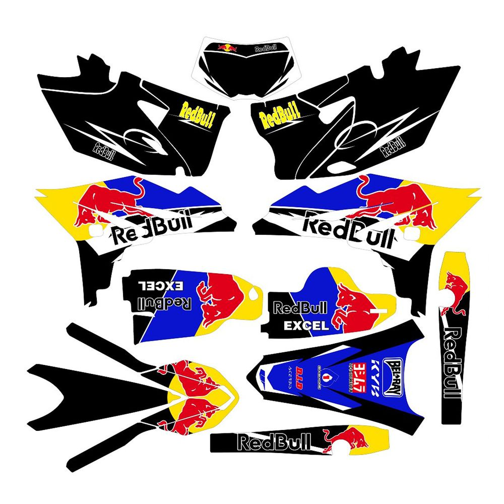 Full Graphics Decals Stickers Bull Custom Number Name 3M Bright Stickers Waterproof For YAMAHA WR450F 2012 2013 2014 2015