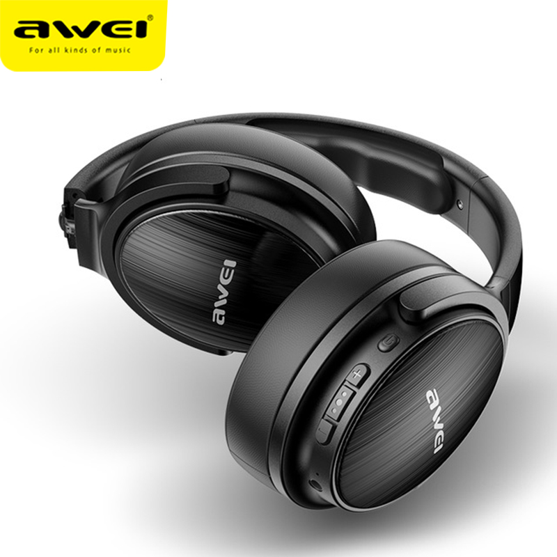 AWEI A780BL Wireless Bluetooth V5.0 Headphones Foldable Earbuds Gaming Stereo Super Bass 40mm Driver Video Headphones With Mic