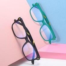 Juniors, анти-синий светильник, очки TR90, двухцветная оптическая оправа, близорукие линзы, компьютерные очки, квадратные очки по рецепту