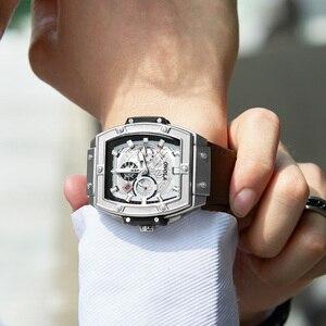 Image 3 - ONOLA tonneau kwadratowy automatyczny zegarek mechaniczny mężczyzna luksusowa marka unikalny zegarek na rękę moda casual klasyczny projektant zegarek męski