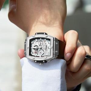 Image 3 - ONOLA tonneau square automatic mechanical watch man luxury brand unique wrist watch fashion casual classic designer watch male