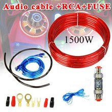 Car Amplifier Power Amp Cable Set 1500W 8Gauge Oxygen Free Copper 60A Fuse Holder Audio Modified Wiring Kits