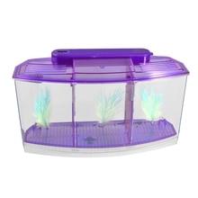 Прозрачный, фиолетовый пластиковый светодиодный светильник на батарейках для аквариума