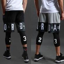 Мужские спортивные шорты для занятия баскетболом, тренажерного зала, быстросохнущие Компрессионные шорты для тренировок, для мужчин, для футбола, упражнений, бега, фитнеса, йоги