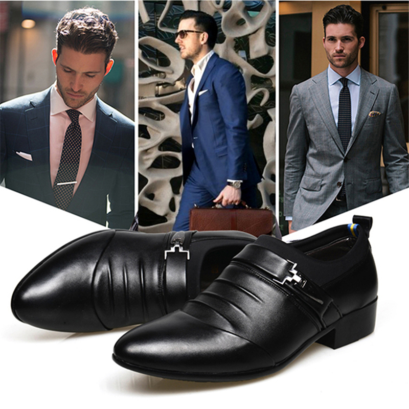 Business Mens Dress Shoes High Quality Shoes For Men Business Men Slip On Office Shoes Pointed Toe Slip-on Men Wedding Shoes