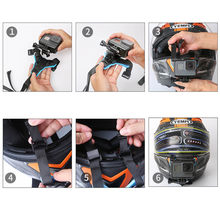 Motorcycle Full Face Helmet Chin Mount for GoPro Hero 6 5 4 3+ Session Xiaomi YI 4K SJCAM Sj4000 POV Action Camera Strap Mount(China)