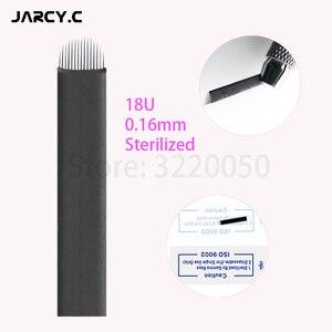 Image 2 - Laminas Tebori Nano 0,16mm 18 forma de U Nano aguja o cuchilla para Microblading Tattoo Needles para maquillaje permanente lápiz de cejas Agulhas