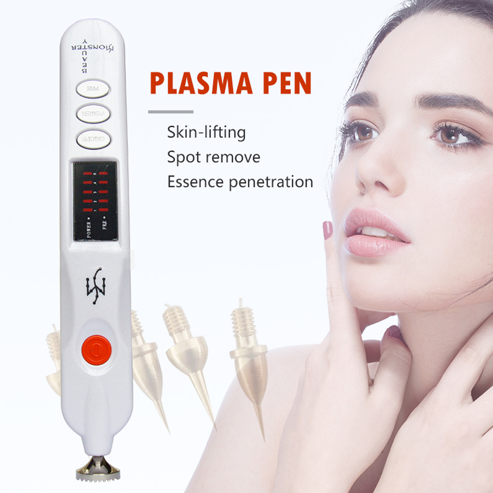 Plasma Pen For Eyelid Lift Freckle Wrinkle Mole Removal Ionic Spot Pen Skin Scares Mole Reckles Wrinkles Black Spot Removal
