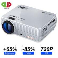 Güçlü Mini projektör X5 + 1280*720P 2800 lümen 1080P desteği 3D taşınabilir Beamer bağlantı USB portu HDMI VGA TV kutusu ile PS4