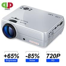 Potente miniproyector X5 + 1280x720P, 2800 lúmenes, 1080P, compatible con proyector portátil 3D, conectar a través de puerto USB, HDMI, VGA, con TV box, PS4
