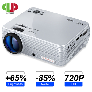 Image 1 - Puissant Mini projecteur X5 + 1280*720P 2800 Lumens 1080P Support 3D Portable projecteur se connecter via port USB HDMI VGA avec TV box PS4