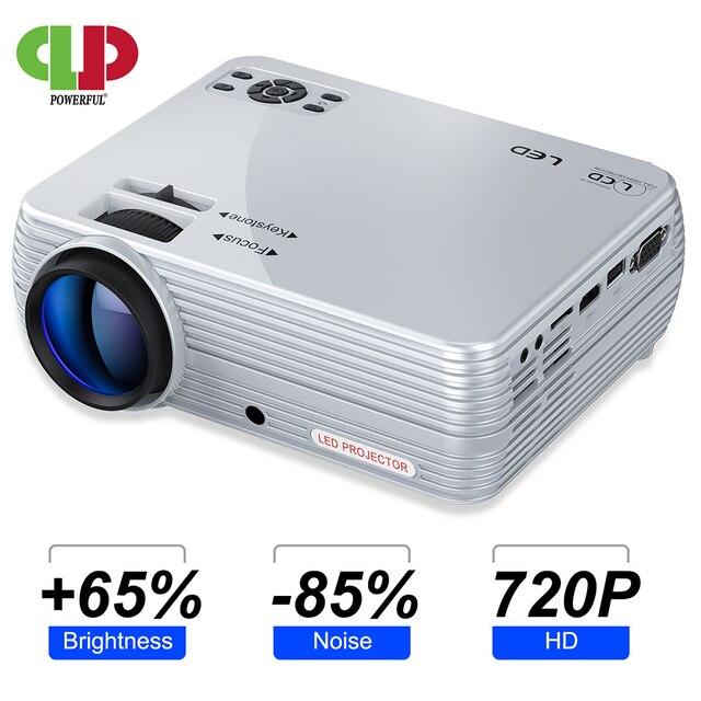 Puissant Mini projecteur X5 + 1280*720P 2800 Lumens 1080P Support 3D Portable projecteur se connecter via port USB HDMI VGA avec TV box PS4
