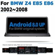 Android 8.0 2 + 32 รถ DVD Navi Player สำหรับ BMW Z4 E85 E86 2002 ~ 2008 สเตอริโอ HD หน้าจอสัมผัส WIFI บลูทูธสไตล์เดิม