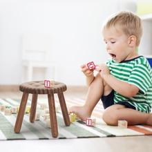 Children Stool Chair Furniture Wooden Footboard Bathroom Portable Black Light Toy Luxury