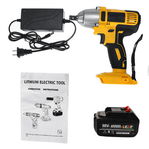 Image 5 - ALLSOME 98VF 320Nm 12000mAh Cordless Electric Impact Wrench Drill Screwdriver 110 240V