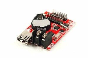 Image 3 - 10 sztuk/partia Hd U6A porty usb disk Huidu karta kontrolna wyświetlacza Led działa tylko z jednokolorowym modułem P10