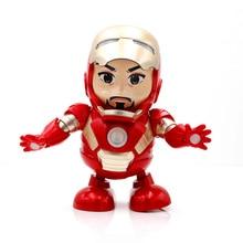 Детская электронная игрушка, танцующий робот, музыка, Мстители, Железный человек, Человек-паук, кукла, игрушка для детей, рождественский под...