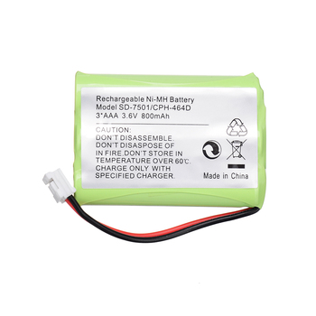 Cordless Home Phone NiMH 3.6V 800mAh Rechargeable Battery for Motorola SD-7501 V-Tech 89-1323-00-00 AT & T Lucent 27910 CPH-464D image