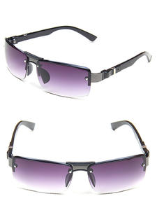 Fashion New Metal Men's Sunglasses Large Frame Sports Drive Sun Glasses Windproof Sunshade Versatile Glasses Male Goggles UV400