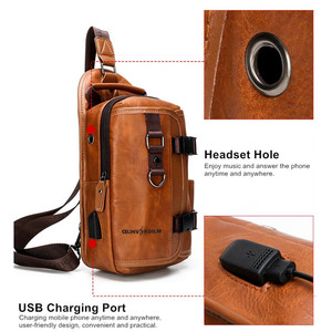 Image 5 - Celinv Koilm iPad waterproof mens travel chest bag, chest packaging, new multi function crossbody bag hanging bag, mens bag