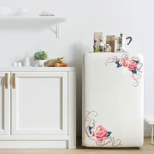 New PVC Arrival Fashion Flower Wall Stickers DIY Home  Art Decal Removable Toilet Fridge Cupboard Decor Pattern