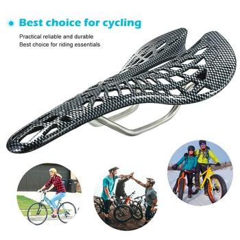 Mountain Road Bicycle Saddle Carbon Fiber Racing Bike Riding Hollow Saddle Seat Bike Parts Cycling
