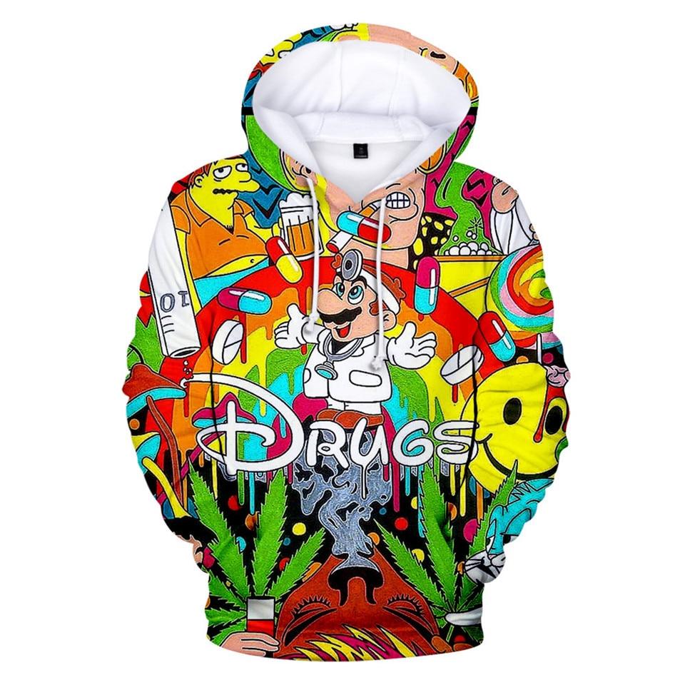 Cartoon Super Mario 3D Printed Hoodies Sweatshirts Men/boys Funny Drugs Hoodie Sweatshirt Autumn Winter Jacket Coat 4XL Clothes