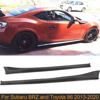 Car Side Skirts Body Kit For Subaru BRZ Toyota FT86 GT86 2013-2020 Body Kit Side Skirts Lip Apron Extension Carbon Fiber image