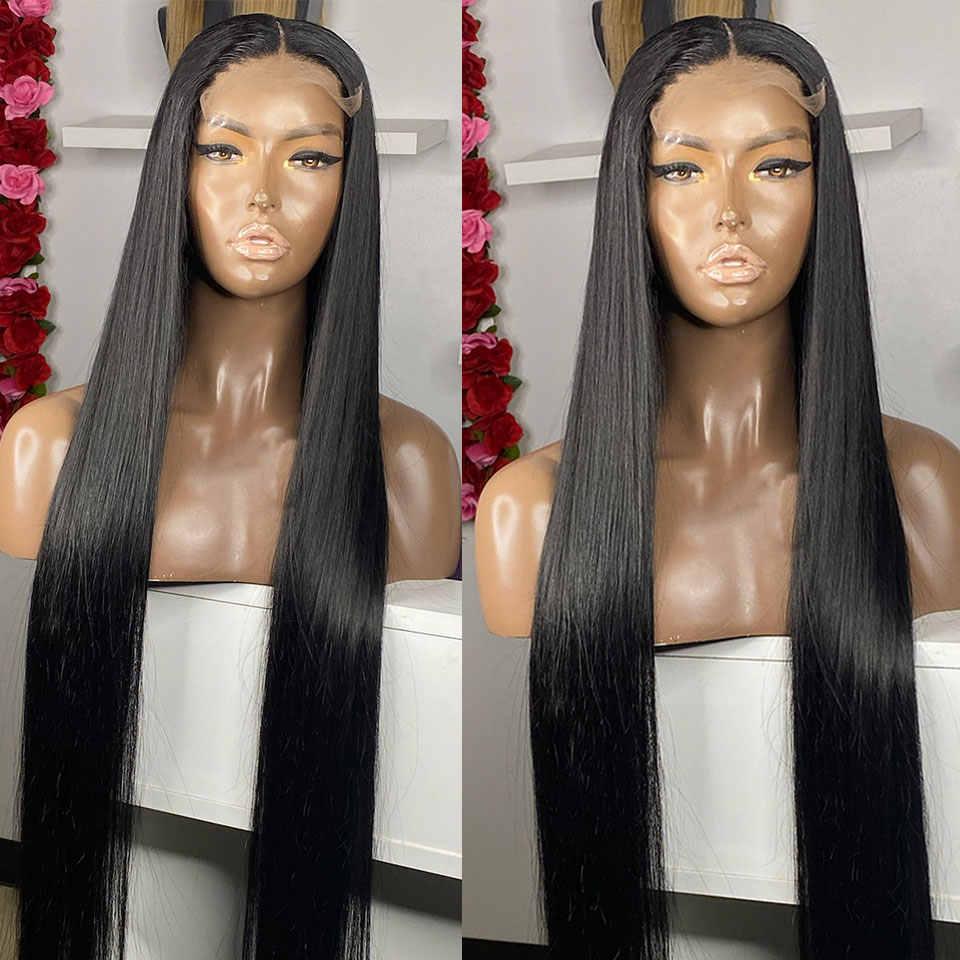 8-30 дюймов длинные 360 Синтетические волосы на кружеве парик предварительно вырезанные бразильские Прямые 180 Плотность 13x6 Синтетические волосы на кружеве парики из натуральных волос на кружевной Волосы remy