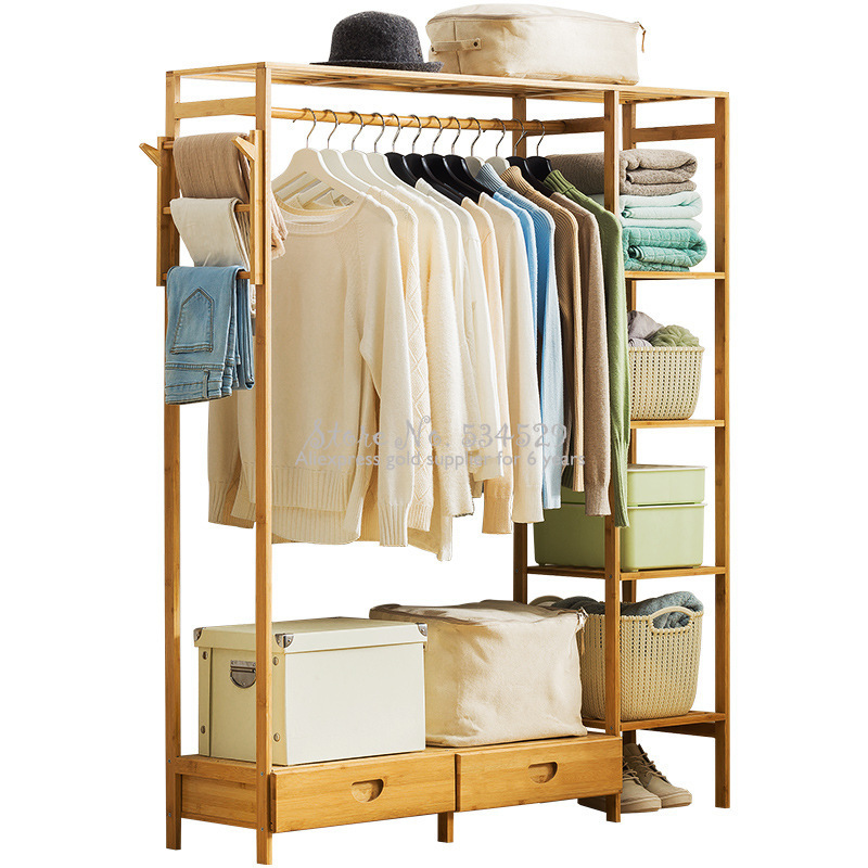 30%A1 Modern Wardrobe Multifunction Storage Rack Orgnizer Floor Shoe Rack Large Capacity Clothing Hanger Coat Home Furniture