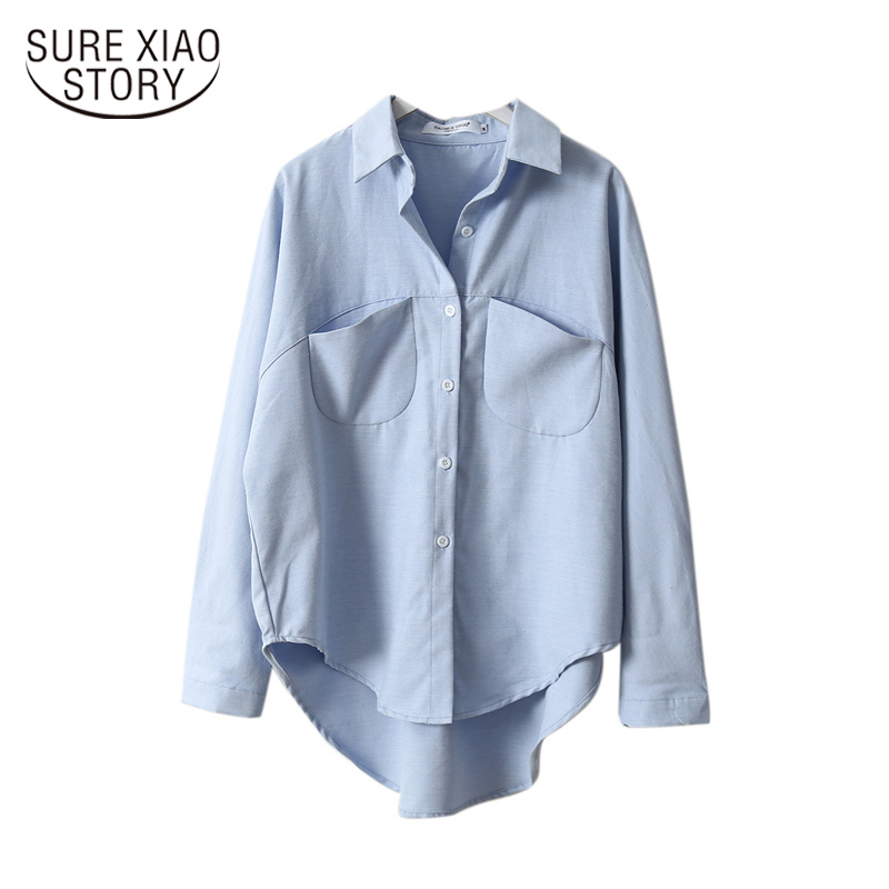 Vintage Women Shirts Blusas Roupa 2019 Spring Women Summer Blouse Korean Long Sleeve Womens Tops and Blouses Female Tops 6658 50(China)