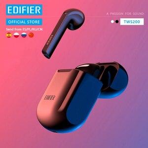 EDIFIER TWS200 TWS наушники-вкладыши устройство, док-станция Qualcomm aptX Беспроводной наушники Bluetooth 5,0 сопротивление разрыву cVc двойной MIC Шум шумоподав...
