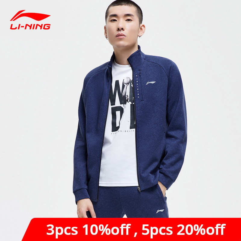 Li-Ning Men Training Hoodie Zippers Comfort 70% Cotton 30% Polyester Hooded Sweater Li Ning LiNing Sports Coat AWDP147 MWW1587