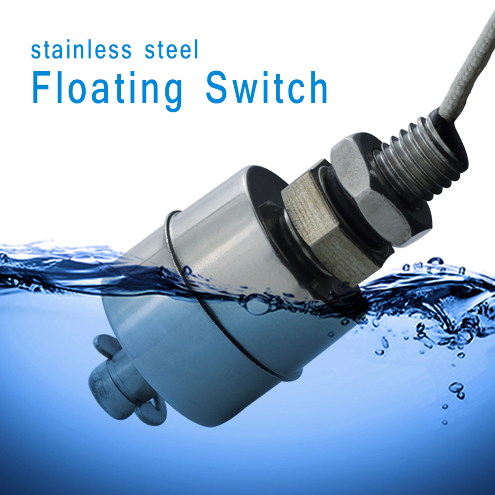 Float Switch High Temperature Resistant 304 Stainless Steel Liquid Water Tower Tank Level Automatic Level Control Sensor Switch