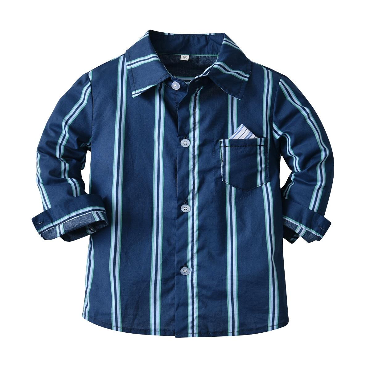 outono criancas ternos formais camisa manga comprida 02