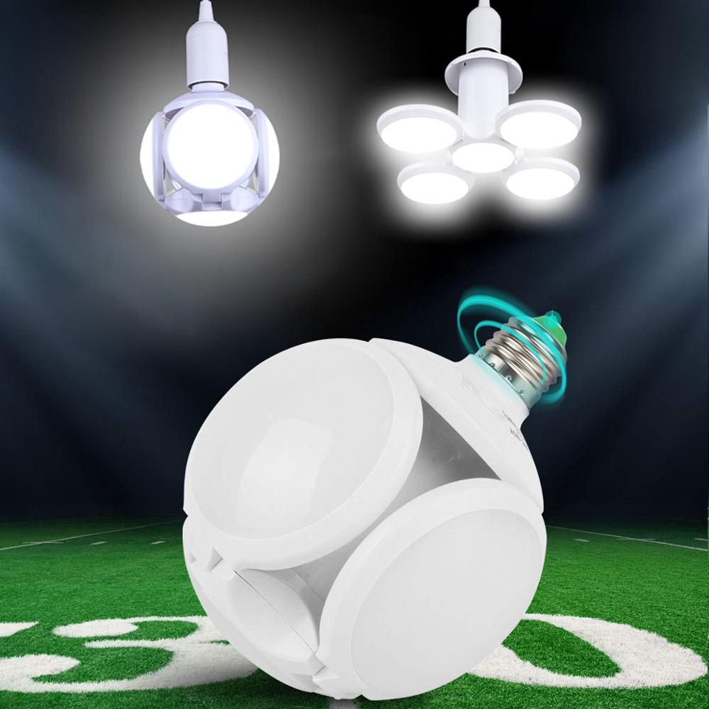 Led Lamp E27 Fan Blade Led Bulb Lamp Folding Angle Adjustable LED 45W 60W Pendant Garage Light Indoor Home Lighting 220V E27