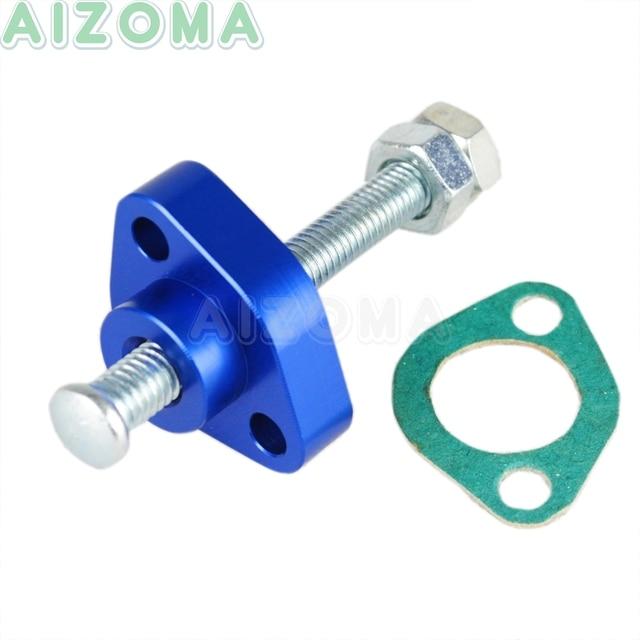 1pcs Blue Manual Cam Timing Chain Tensioner Adjuster For Honda ATC TRX 250/250x/300/300EX/350/450R/500/650/680 Fourtrax Foreman