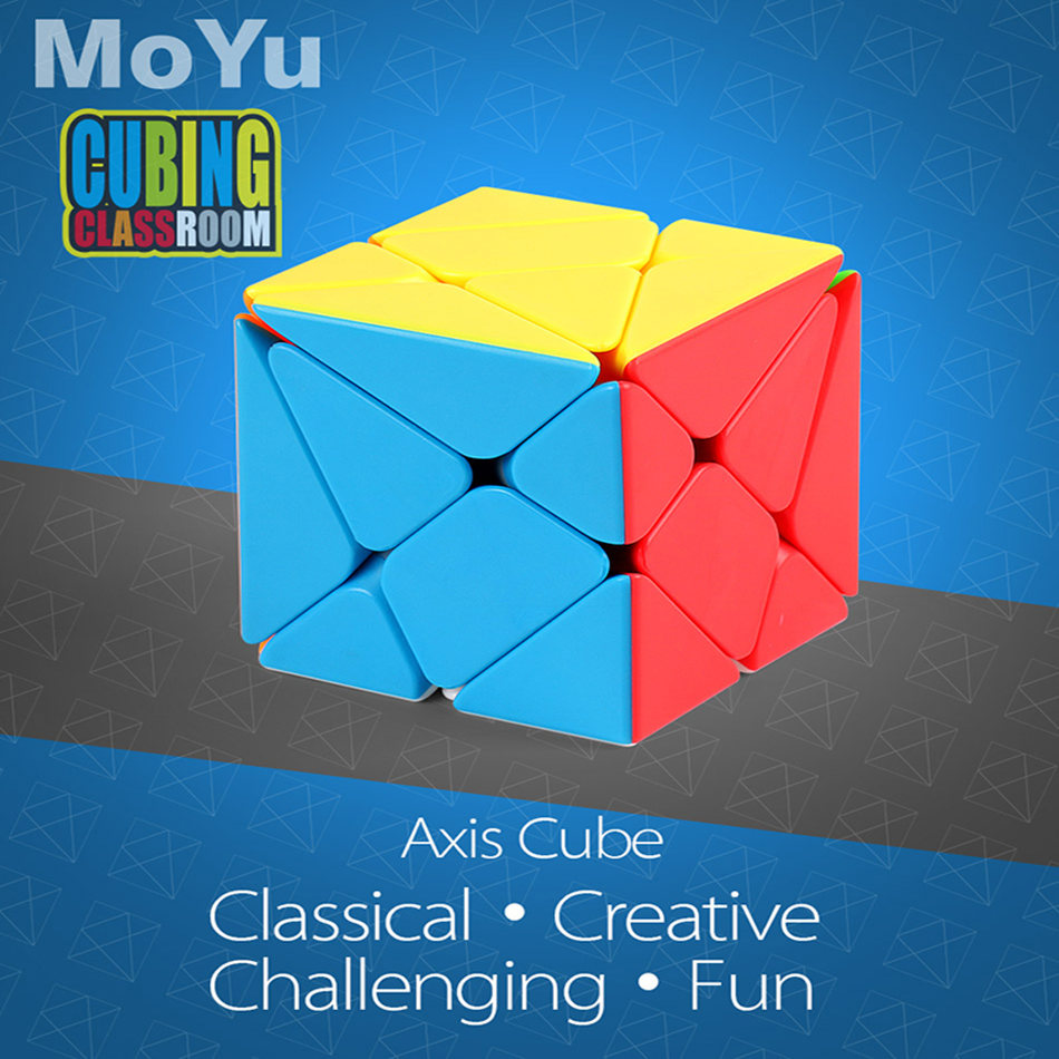 Moyu Axis Cube Moyu Mofangjiaoshi Stickerless Fluctuation Jin'gang Magic Cube Axis Speed Puzzle Educational Toys For Kids Childr