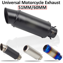 Free Shipping Motorcycle Exhaust DB Killer Motocross Exhaust Pipe Muffler for Project Carbon Fiber Exhaust Pipe for Z900 NMAX