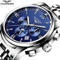 GUANQIN мужские часы для плавания  автоматические мужские роскошные часы  брендовые Бизнес золотые водонепроницаемые horloges mannen