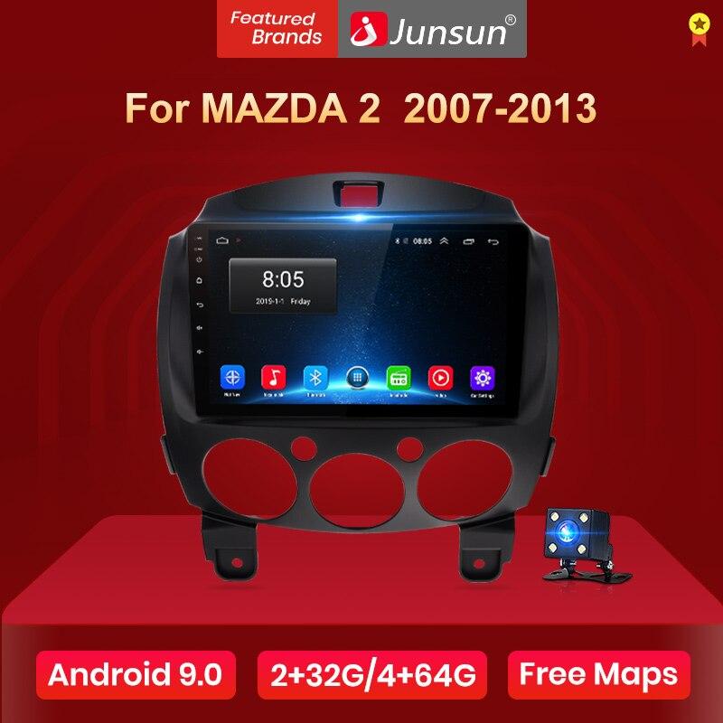Reproductor de vídeo Multimedia Junsun V1 Android 9,0 2G + 32G DSP Radio de coche para MAZDA 2 2007-2013 navegación GPS 2din autorradio