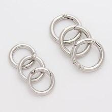 10 pçs/lote prata cor abertura loop salto anéis anel rachado conectores fechos diâmetro 13mm 17mm para diy jóias fazendo descobertas f1946