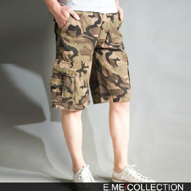 Fashion And Personality Bags Pure Cotton Work Clothes Middle Pants Camouflage Middle Pants Camouflage Shorts Models In Europe An