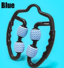 Blue - U-shaped trigger point massage roller