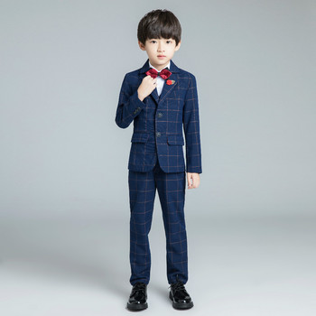 YuanLu 2019 Brand New Boys Suits For Wedding Party Piano Kids Suits Baby Tuxedo Blazer Dress Child Clothes Formal Costume
