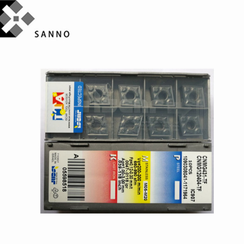 10pcs CNMG120408-TF IC907 CNMG431-TF IC907 CNC Carbide Inserts for steel New!!!